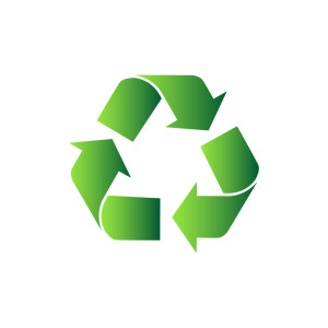 illustration of vector recycle symbol